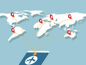 خريطة الخطوط الجوية من/الى المطار